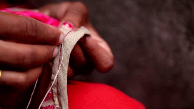 Sewing using needle