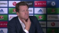 further allegations emerge Surrey Cobham Chelsea Manager Antonio Conte and Steve Atkins taking seats for press conference Press conference Steve...