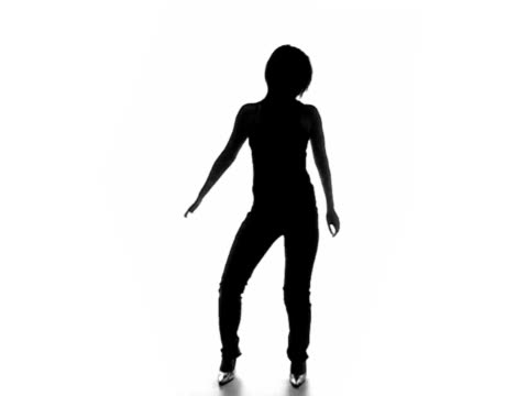 Sexy dancing silhouette 1