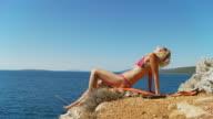 HD DOLLY: Sexy Woman Enjoying The Sun