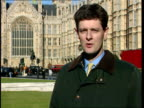 Shadow cabinet resignation over single currency ITN Westminster Pym i/c sign off