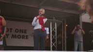 Shadow chancellor John McDonnell speaks to antiausterity protesters in Parliament Square He slammed the Tories for praising the emergency services...
