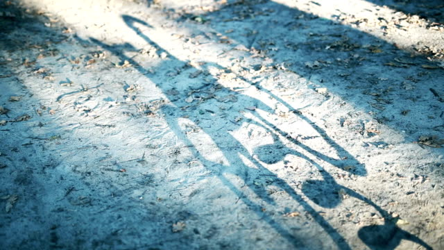 Shadow Toy bike on sand