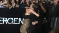 Shailene Woodley and Maggie Q at the 'Divergent' Los Angeles Premiere at Regency Bruin Theatre on March 18 2014 in Los Angeles California