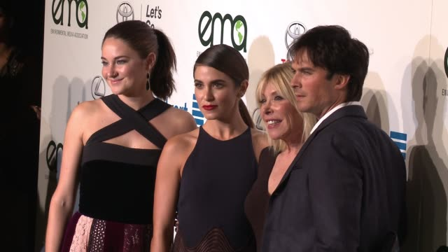 Shailene Woodley Ian Somerhalder Nikki Reed and Debbie Levin at the 26th Annual Environmental Media Association Awards at Warner Bros Studios on...