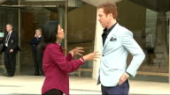 Actor Damian Lewis reads sonnet Damian Lewis reading Shakespeare's sonnets Cutaways SOT / EXT Damian Lewis towards from building with reporter and...