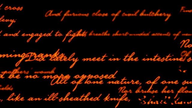 Shakespeare poesia sfondo
