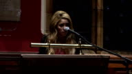 Shakira addresses Oxford Union Shakira speech continued SOT this is about investing in human potential / could bring enormous benefits to all kind /...