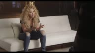 INTERVIEW Shakira at TMobile Launches Unlimited Global Data at Special Event Featuring Shakira in NYC's Bryant Park at Bryant Park on October 09 2013...