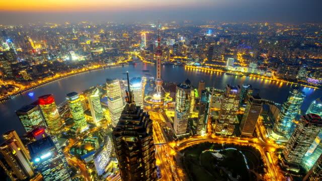 Shanghai at Night, Time Lapse.