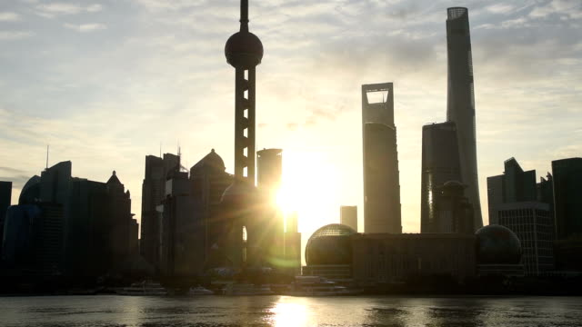 Shanghai city in the morning