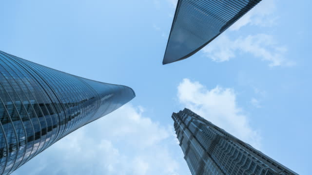T/L Shanghai Finanzviertel Wahrzeichen