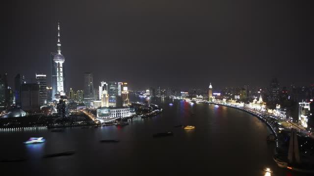 Shanghai Huangpu River Day to Night Timelapse