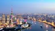 4K: Shanghai Lujiazui and The Bund Cityscape, China