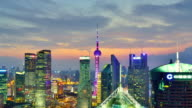 4K: Shanghai Lujiazui Cityscape, Time lapse - Panning