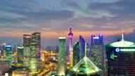4K: Shanghai Lujiazui Cityscape, Time lapse