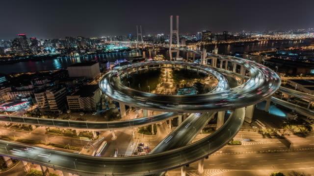 Shanghai, Nanpu bridge at night