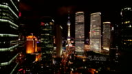 Shanghai Pearl tower and traffic at night