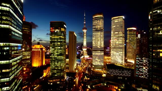 Zeitraffer Pearl Tower-Shanghai