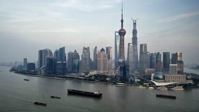 Shanghai Pudong day to night HD timelapse. China
