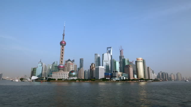 WS Shanghai Pudong with clear blue skies