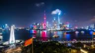T/L WS HA Shanghai Skyline at Night / Shanghai, China