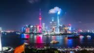T/L WS HA ZO Shanghai Skyline at Night / Shanghai, China