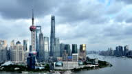 Shanghai Skyline at Overcast Day, China