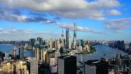 4K: Shanghai Skyline Panoramic
