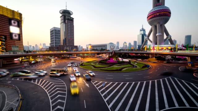 shanghai skyline timelapse