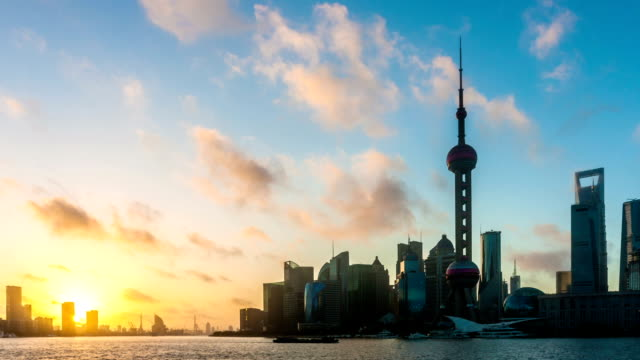 shanghai with sunset