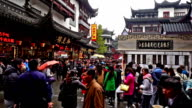 Shanghai,China-Nov 28,2015: Customers wander in the famous Chenghuang Mao Old Street,Shanghai, China