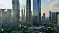 4K: Shanghai's Lujiazui Financial District at Sunset, China