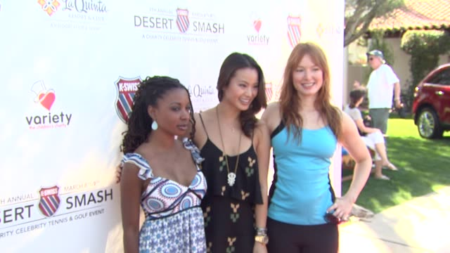 Shanola Hampton Jamie Chung Alicia Witt at the 7th Annual KSwiss Desert Smash at Palm Springs CA