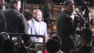Shaquille O'Neal on set outside of Staples Center in Los Angeles