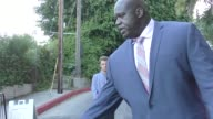 Shaquille O'Neal Shareef O'Neal greets fans outside Chateau Marmont Hotel in West Hollywood in Celebrity Sightings in Los Angeles