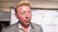 Sharlely Becker Boris Becker on what kind of movies they like at de Grisogono Party 64th Cannes Film Festival on May 17 2011 in Antibes France