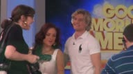 Sharna Burgess Charlie White on the set of the Good Morning America show in Celebrity Sightings in New York