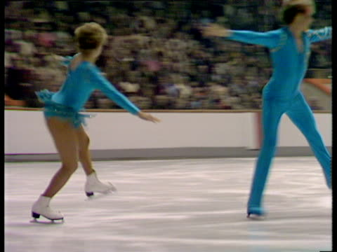 Sharon Jones and Paul Askham continue their routine British Ice Dance Championships Nottingham Nov 83