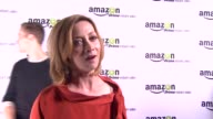 INTERVIEW Sharon Lawrence on the event at Amazoncom Red Carpet Launch Party in Los Angeles CA