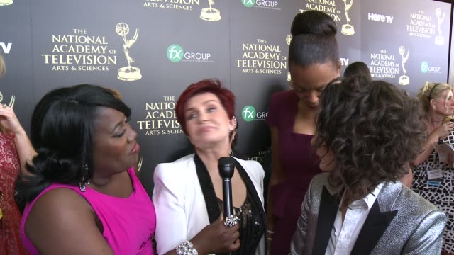 INTERVIEW Sharon Osbourne Sara Gilbert Sheryl Underwood and Aisha Tyler on their nomination on how the show has evolved and on if they spend their...