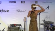 Sharon Stone at the Cannes amfAR Auction in Cannes on May 22 2008