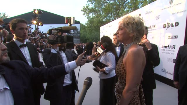 Sharon Stone at the Cannes amfAR's Cinema Against AIDS 2008 Arrivals at Cannes