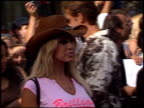 Shauna Sand at the American Idol Finale at the Kodak Theatre in Hollywood California on September 4 2002