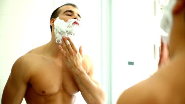 Shaving.