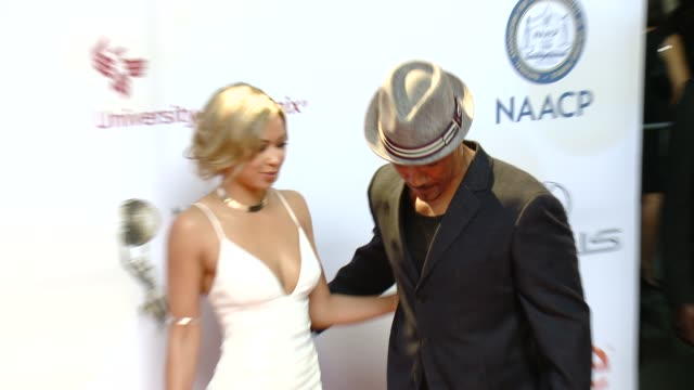 Shawna Gordon and Shemar Moore at the 46th Annual NAACP Image Awards Arrivals at Pasadena Civic Auditorium on February 06 2015 in Pasadena California