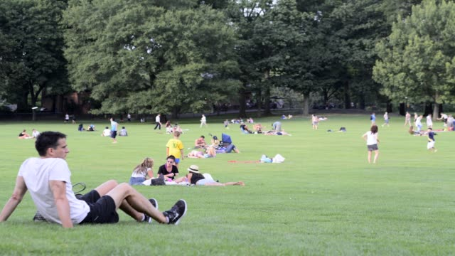 LAPSE Sheep's Meadow summer in Central Park Manhattan New York City USA