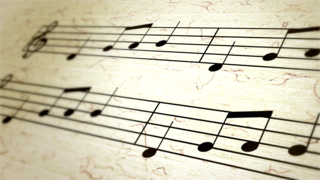 sheet music, musical notation, notes, treble clef