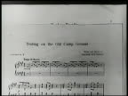 Sheet music superimposed dates amp SOT 'Yankee Doodle' 17751781 'Tenting on the Old Camp Ground' 18611865 'A Hot time in the Old Town' 1898 'Over...