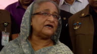 Sheikh Hasina Prime Minister of Bangladesh saying that they need to provide food shelter and medication to Rohingya refugees who have fled...